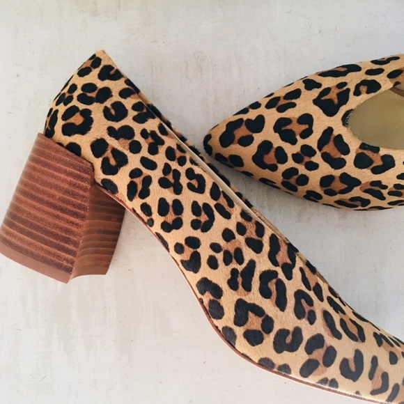 zara leopard print heels